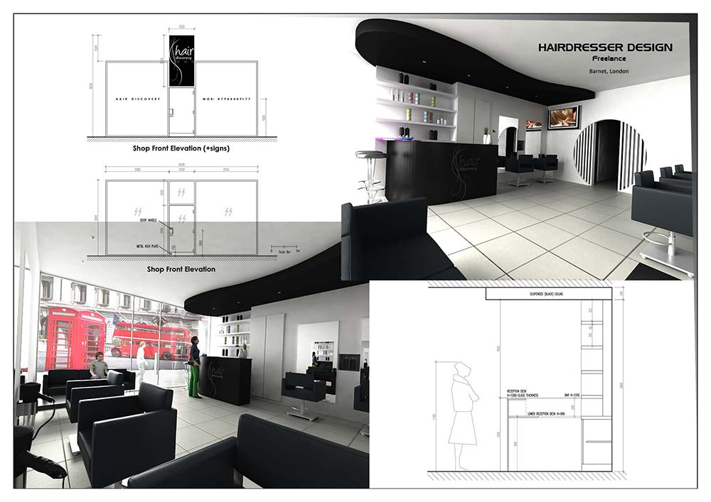 Hairdresser Interior Design – London